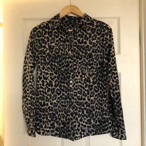 BCBGmaxazria leopard print shirt